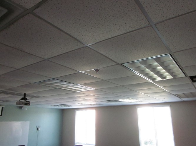 moisture issue at drop ceiling tiles